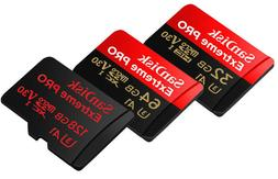 SanDisk Extreme Pro A2 170MBs 128GB 64GB 32GB micro SD SDHC