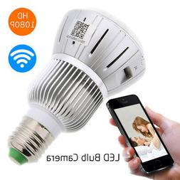 HD 1080P WiFi 140° View Angle Light Bulb CCTV Security Came