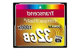 Transcend Information 32GB Compact flash Card - TS32GCF1000
