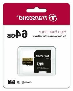 Transcend Information 64GB High Endurance microSD Card with