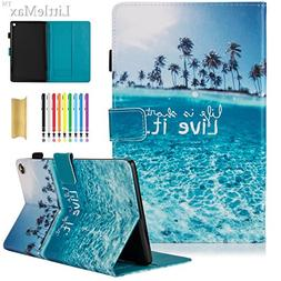 Kindle Fire HD 8 Case,LittleMax PU Leather Case Flip Stand P