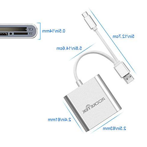 Rocketek 3-in-1 / USB Card Reader - SDXC, UHS-I SD, Micro Micro MMC, Reader Tablets Function