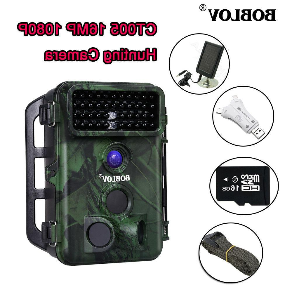 Boblov 16MP Hunting With Panel + Card Reader With