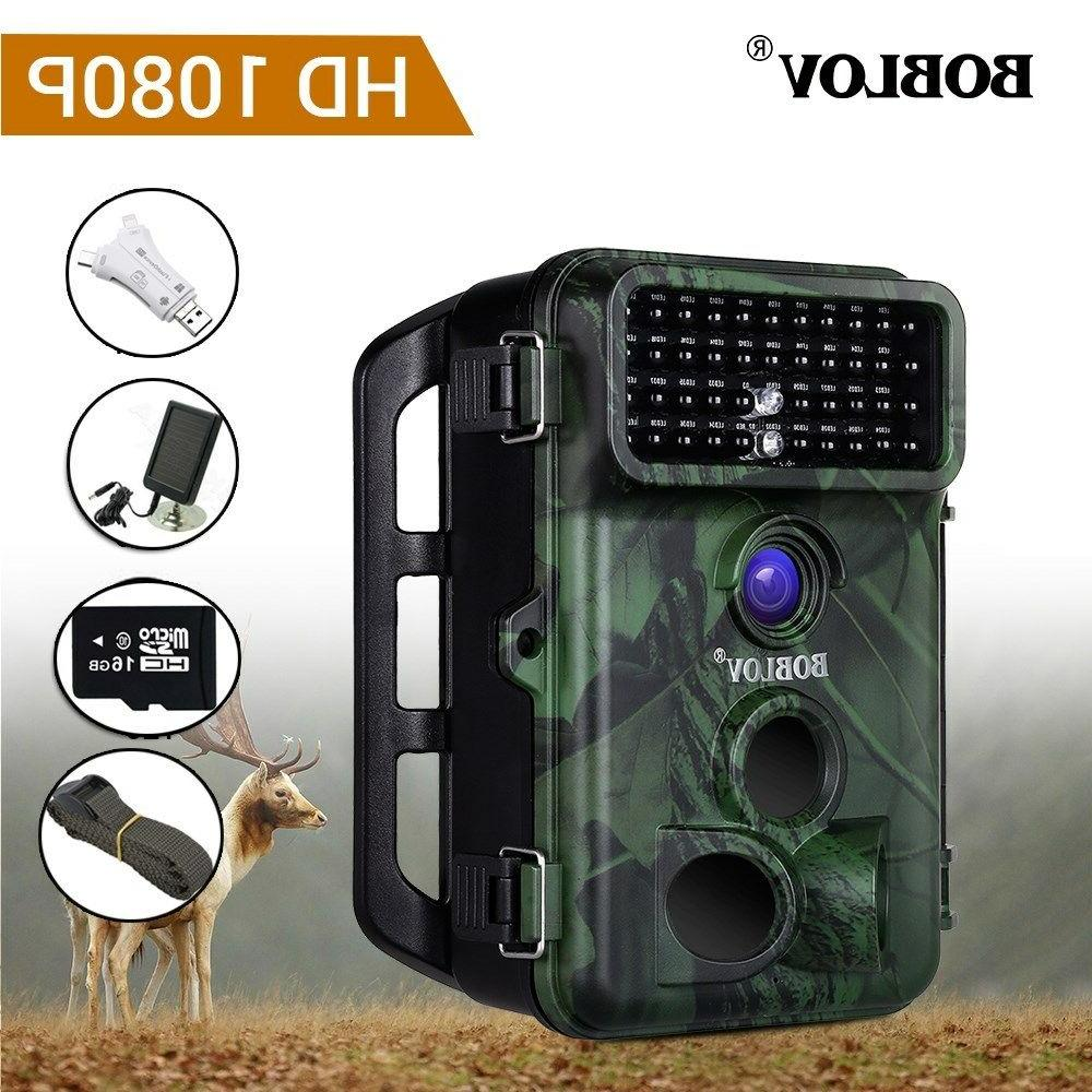 Boblov 1080P Hunting Camera With Panel With Belt