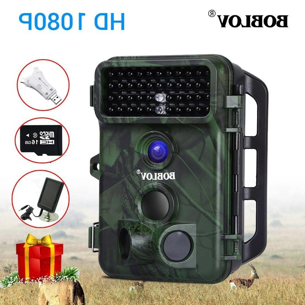 Boblov 1080P 16MP Hunting Camera With Panel With