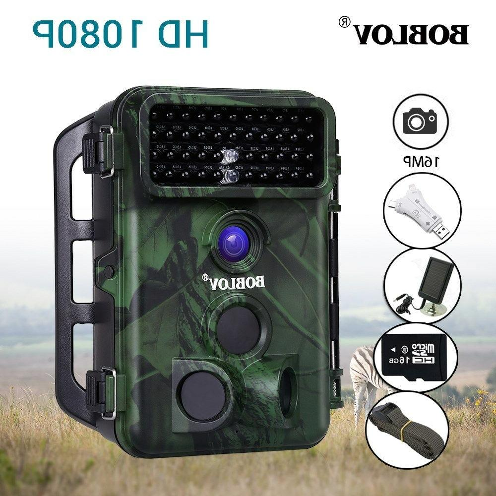Boblov Hunting Camera With Solar Panel With
