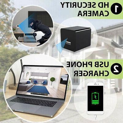 1080P USB Charger Adapter Video Security Camera with