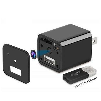 1080P Wall Charger Adapter Recorder Security Camera