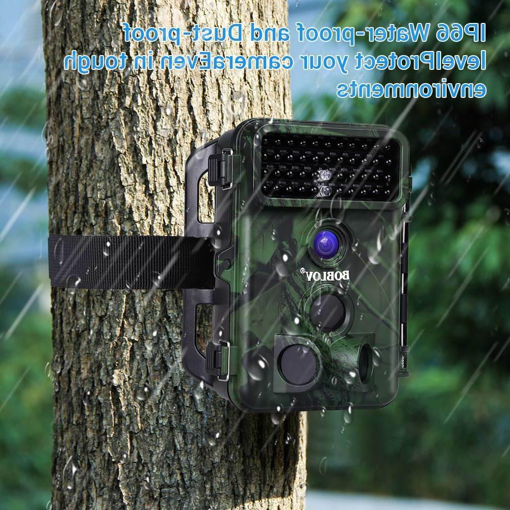 Boblov 1080P Hunting With Solar Panel + Reader With