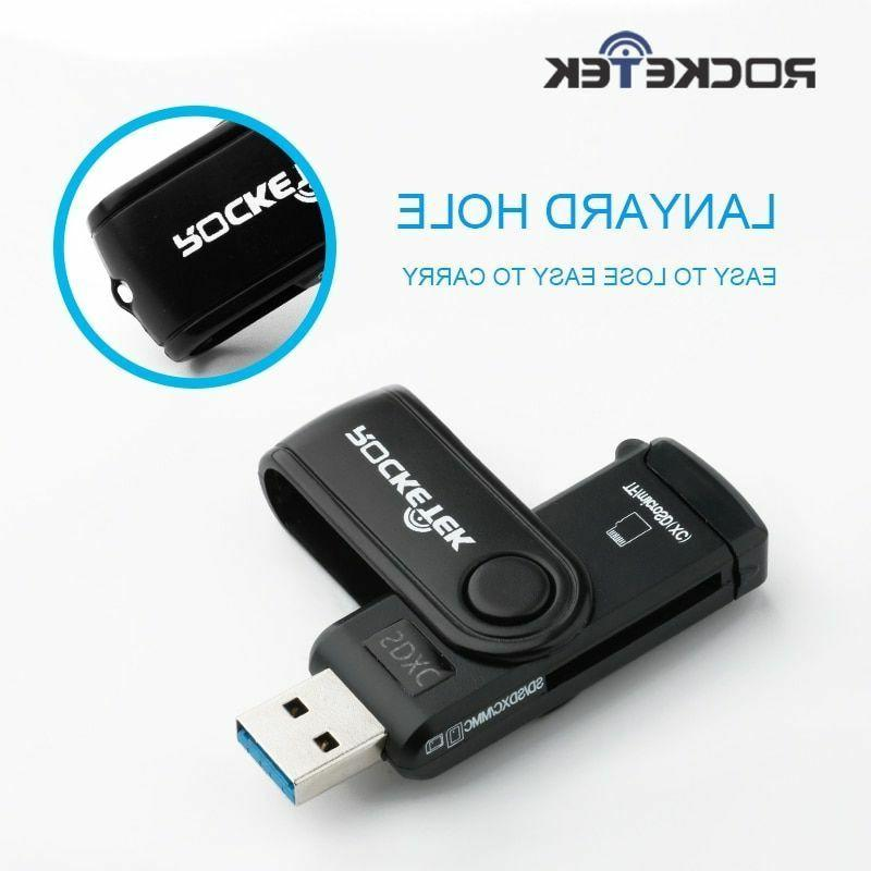 2 Card Reader Rocketek Time Usb 3 0 Memory