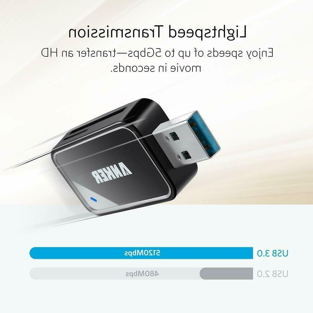 Anker USB Portable Reader for SDXC,SDHC,SD,MMC,RS-MMC and more