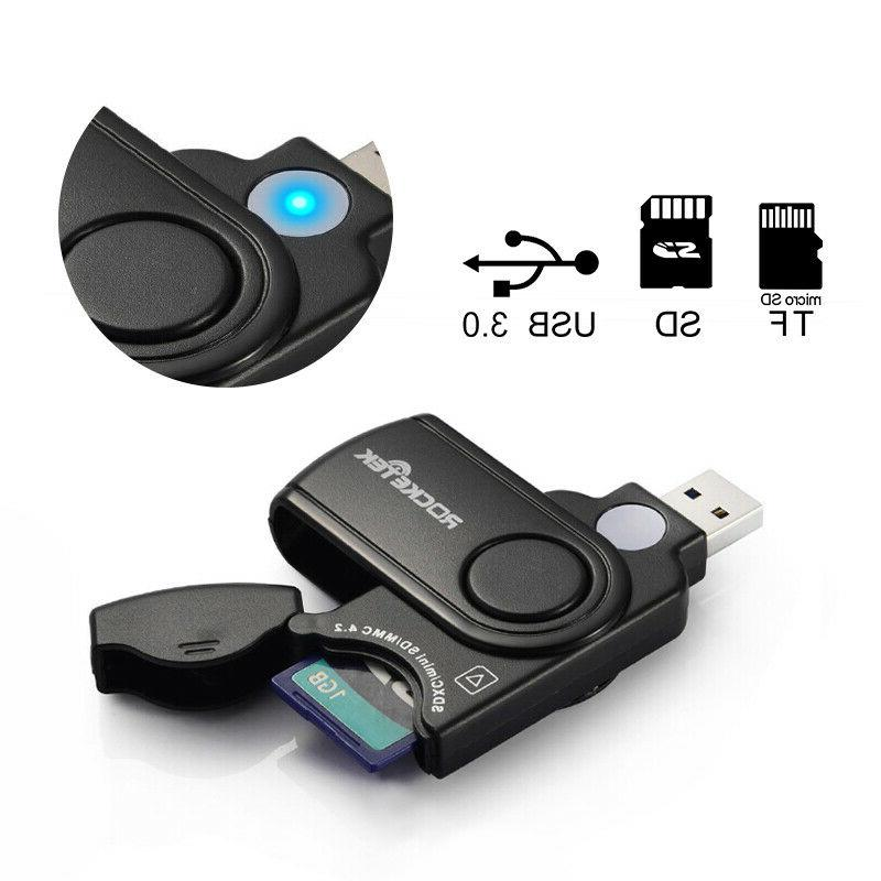 2 slots memory card reader with a