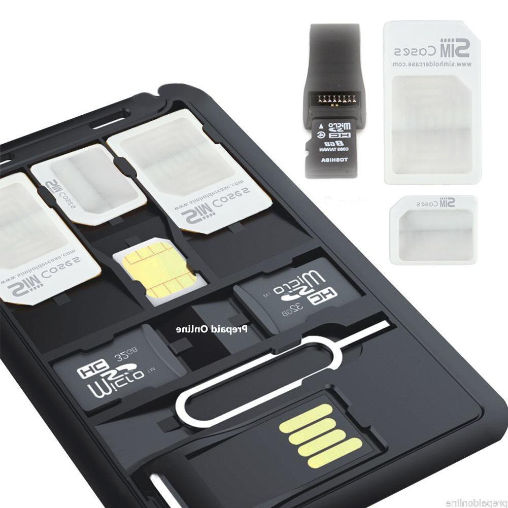 2 x sim card storage case holder