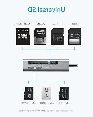 Anker 2in1 USB C to SD/Micro SD Card Reader for for MacBook
