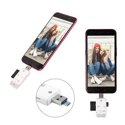 3 1 SD Card Reader fit iPhone/ipad/ PC/ Android