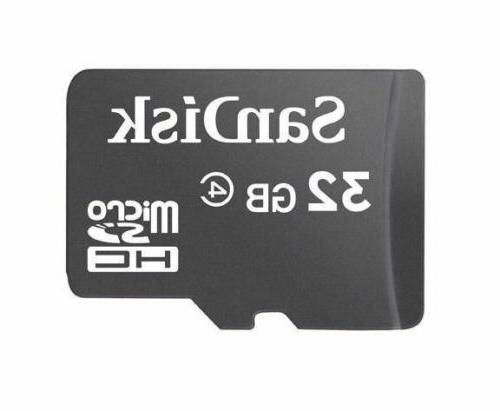 Sandisk 32GB Micro SDHC Flash Memory with Adapter Card Reader