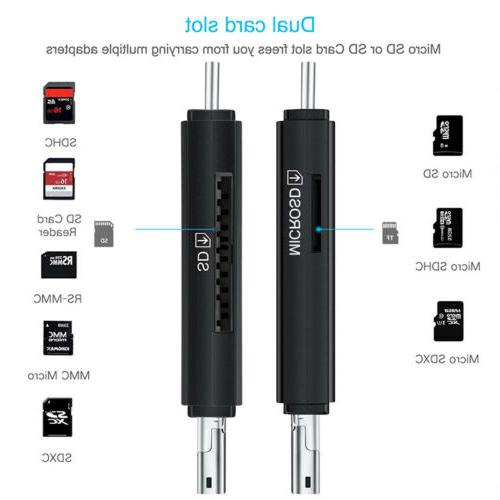 2in1 SD Micro OTG to USB 2.0 Adapter SD/Micro Card Converter