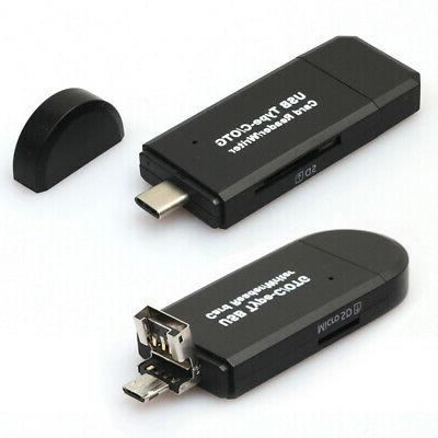 3in1 USB 2.0 Micro OTG TF Card For Macbook