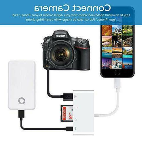 For iPhone 8 4in1 Reader Camera USB US