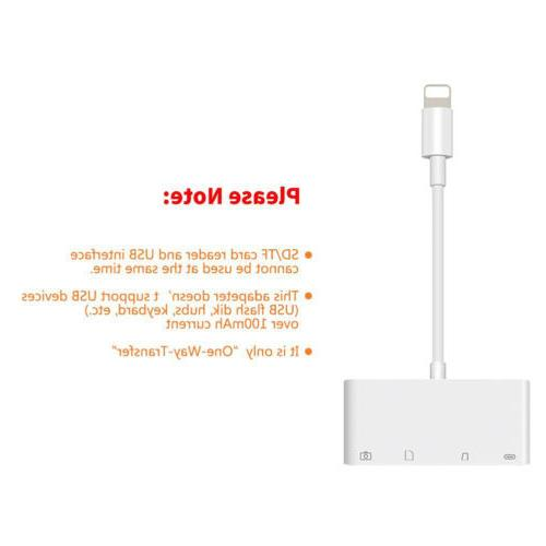 Lightning to Adapter USB Camera SD Memory for iPhone