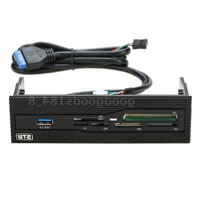 """5.25""""inch Card Reader Media Dashboard PC Front Panel USB MS M2 TF"""