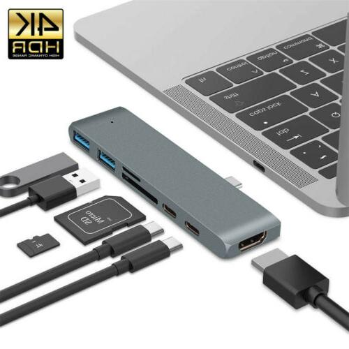 7in1 Type USB C Hub 3.1 HDMI For US