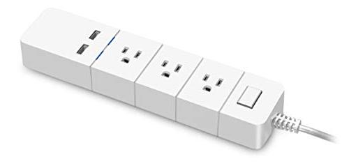 Aluratek  - eco4life WiFi Smart Power Strip with Surge Prote
