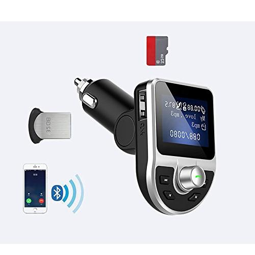 quality design 6bdbc aa963 Bluetooth Car Adapter FM Transmitter, Wireless In Car