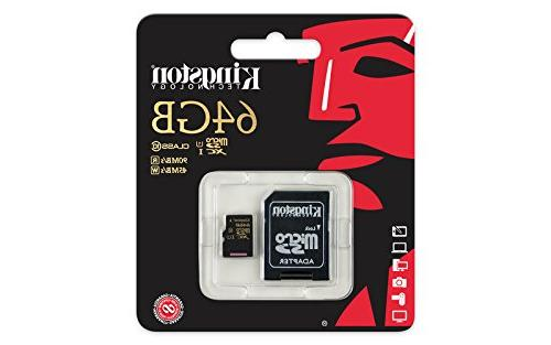 Kingston MicroSDXC CL10 with Adapter