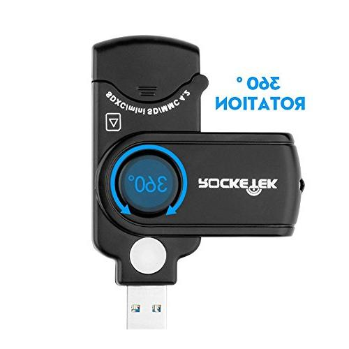 Rocketek RT-CR3A 11 In Card 2 for Uhs-I SD, SDHC, SD, Micro SDXC, SDHC, Micro SD, Cards