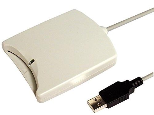 SCM SCR331 USB Common Access CAC Smart Card Reader, CCID Compatible for  Windows 7 Vista XP Mac and Linux Computers