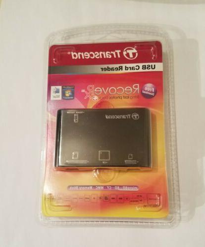 Transcend P8 15-in-1 USB 2.0 Flash Memory Card Reader TS-RDP