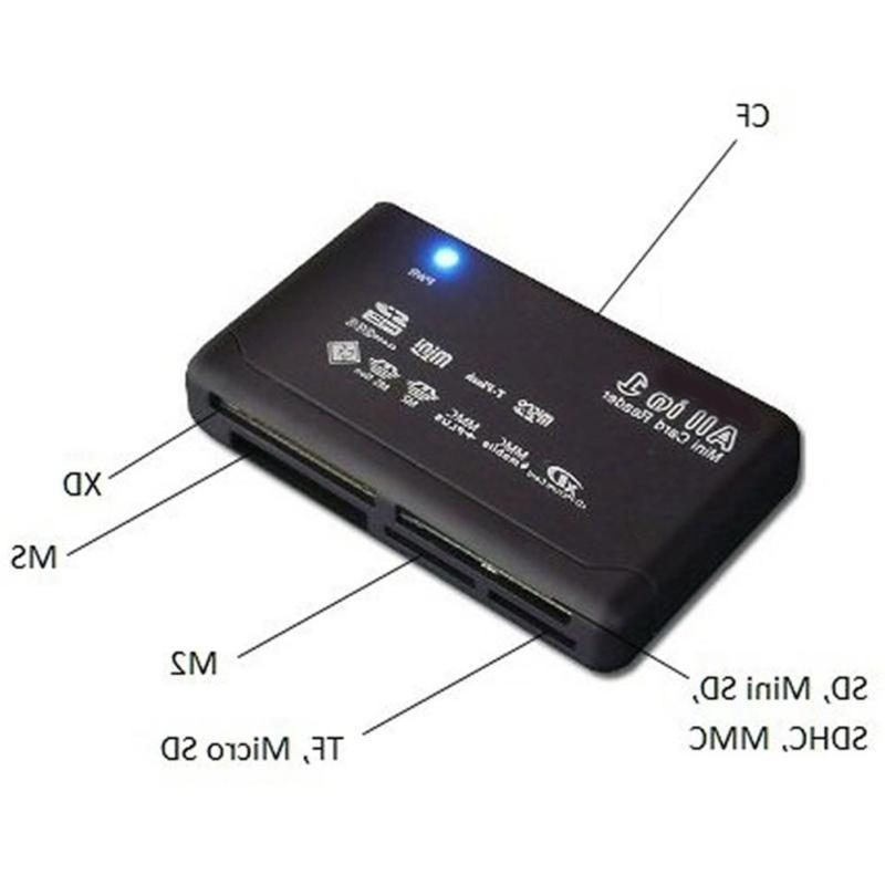 All One Card Reader SD SDHC Micro M2 MS