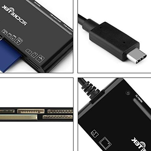 Reader, USB 3.0 Reader/Writer for CF xD Card, Card, Micro SD Card, MS & Micro Card | Build Cable Read Different Simultaneously