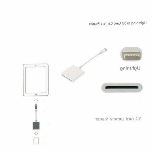 Camera Card Reader Lightning Adapter Viewer iPad Mini Air