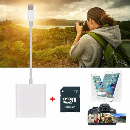 camera sd card reader lightning adapter trail