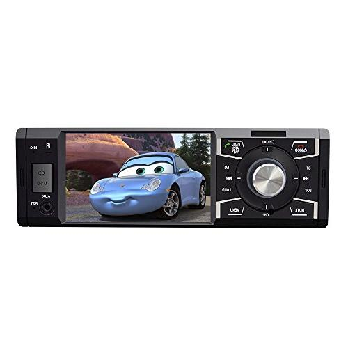 4.1 with Single Car FM Car Audio Video USB SD Card Wireless Remote