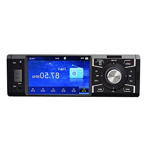4.1 Car Stereo with Bluetooth Car stereo FM Car Audio 1080P Video Card AUX Remote Control