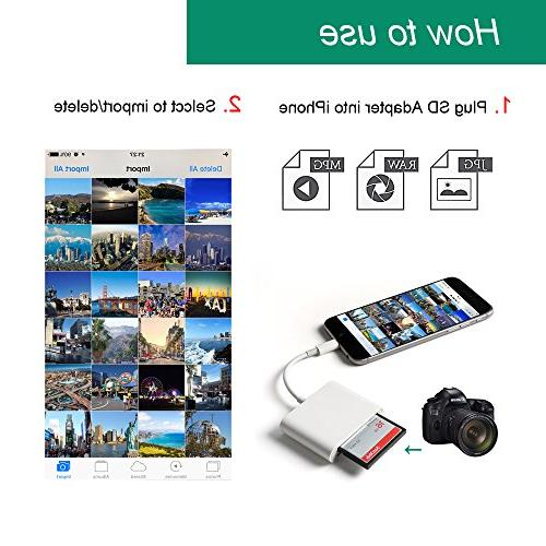 CF For / Card Camera Game Camera Viewer iPhone Plus/8/7 Plus Mini/Air, No Required Plug