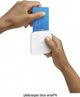 Square - contactless and chip reader White