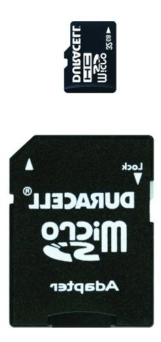 Duracell 32 GB Class 2 Micro Secure Digital Card with SD Ada