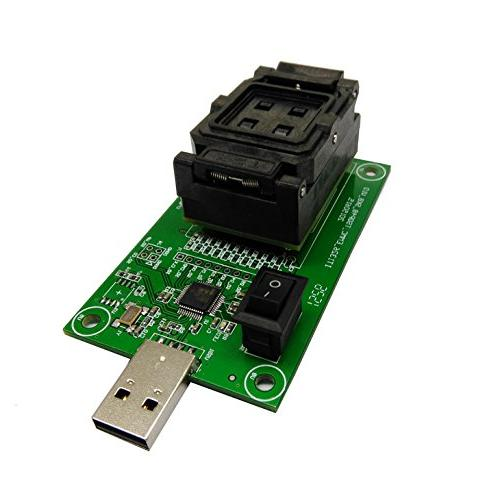 eMMC153/169 socket reader with USB2 0 Interface Clamshell