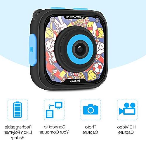 Kids Camera, HD 1080P Kids Digital Cameras Camcorder with 16GB Memory Reader
