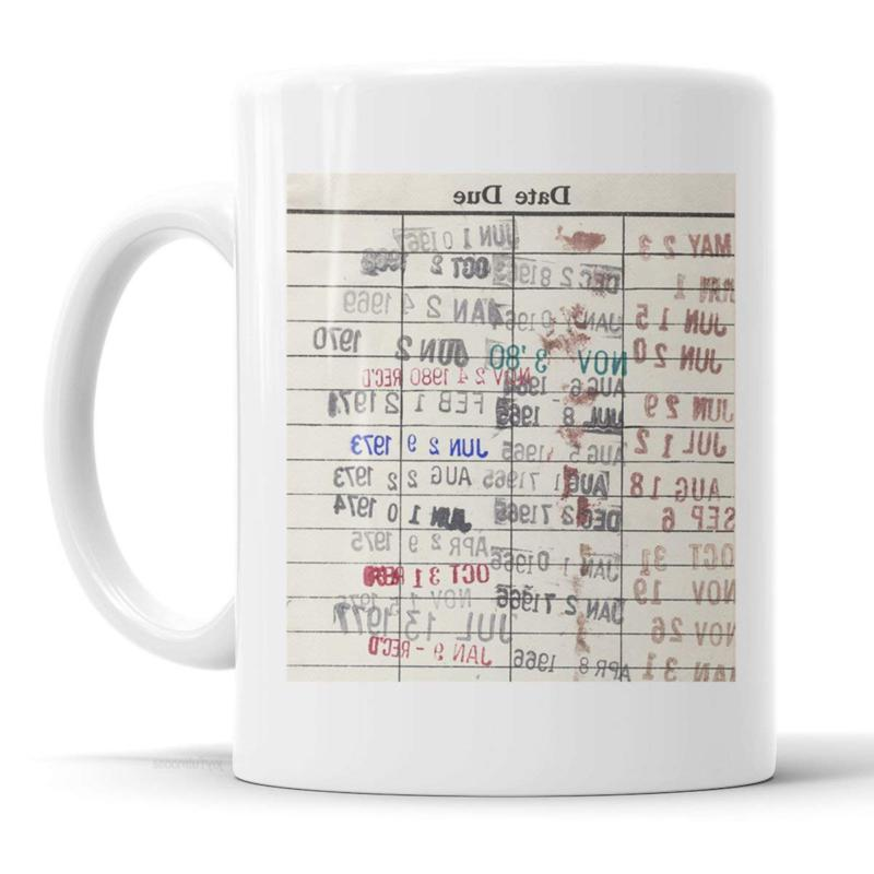 Library Due Date Card Coffee Mug - Gift for readers, librari
