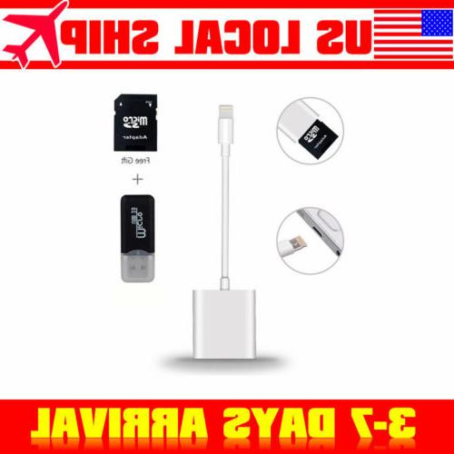 lighting to sd card camera reader adapter
