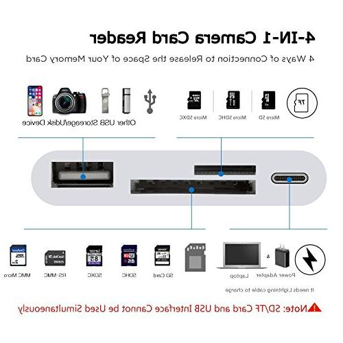 Lightning Reader, Lightning to USB Card Reader Compatible with iPhone 5 5s 6 6s 7 Plus iPad Mini