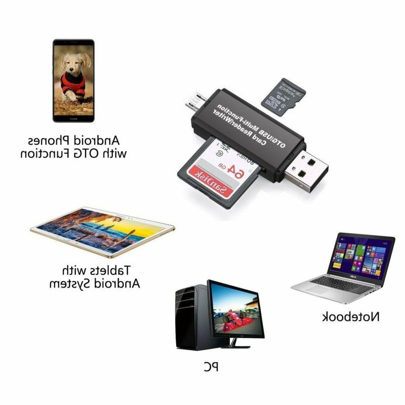 Memory Card Reader Micro Sd Usb Otg To 2.0 Pc