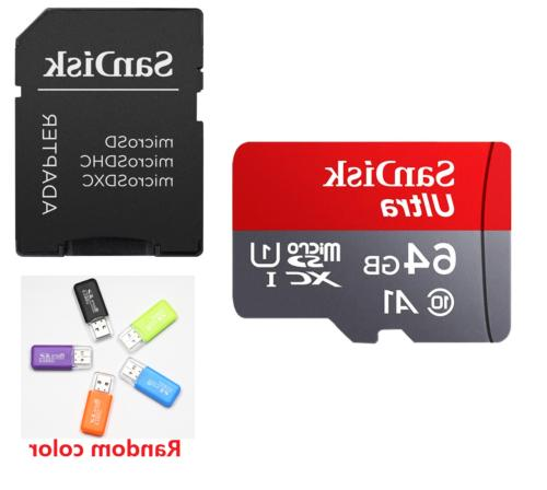 SanDisk Micro SD TF Card 32GB 64GB Phone Laptop