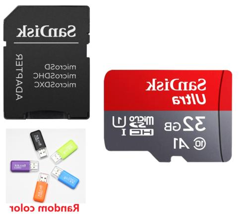 SanDisk SD Class10 TF Memory Card 32GB 64GB 128GB Phone Laptop