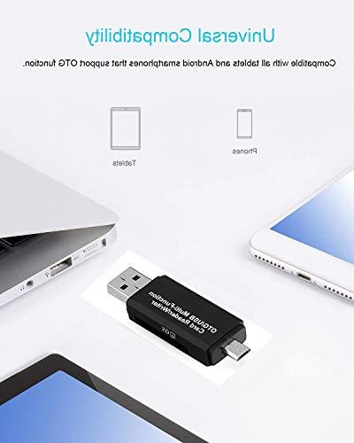 SD/Micro Card Reader,Micro 2.0 USB Male & USB Smartphones/Tablets OTG